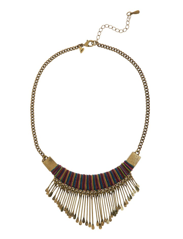 MultiColoured Spike Necklace